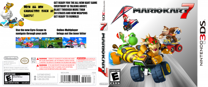 mario kart 7 nintendo 3ds box art cover by goldenspoink. Black Bedroom Furniture Sets. Home Design Ideas