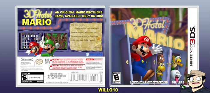 Hotel Mario 3d Nintendo 3ds Box Art Cover By Willo10