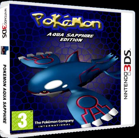 Pokemon Aqua Sapphire Nintendo 3DS Box Art Cover by
