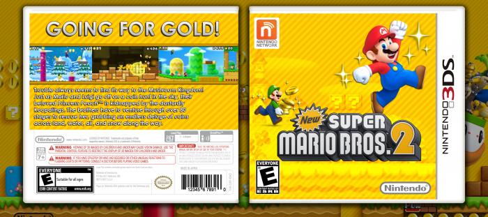 New Super Mario Bros  2 Nintendo 3DS Box Art Cover by StarMario22