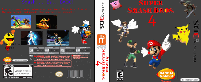 Super Smash Bros. 4 box art cover