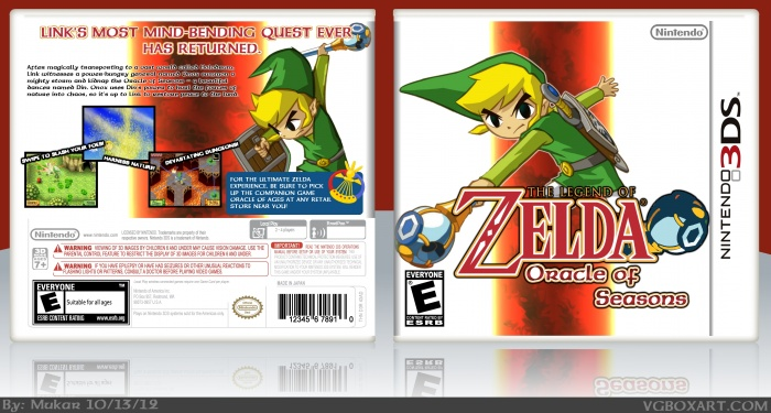 3DS » The Legend of Zelda: Oracle of Seasons Box Cover