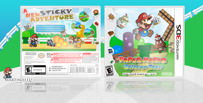 Paper Mario: Sticker Star box art cover