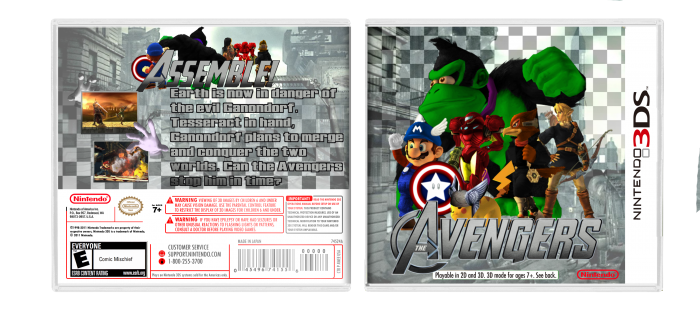 Smash Bros: Avengers box art cover