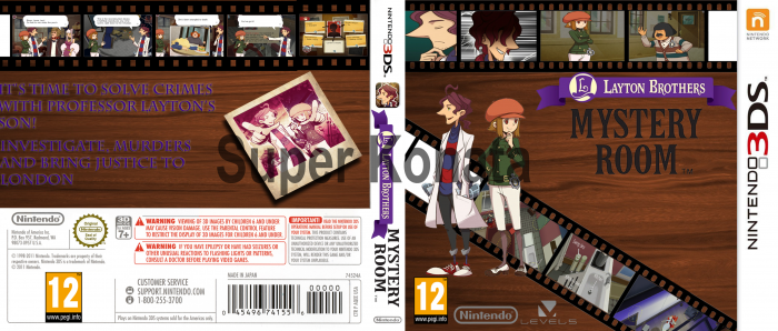 Layton Brothers Mystery Room Nintendo 3ds Box Art Cover