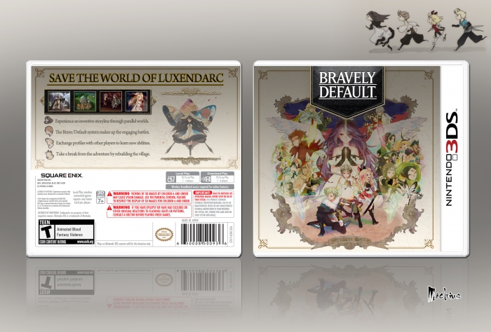 Bravely Default Nintendo 3DS Box Art Cover by Moebius