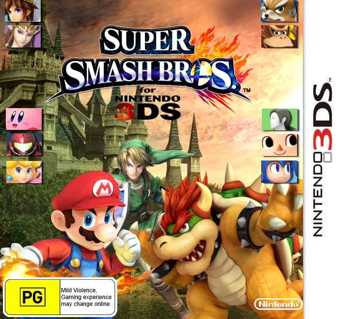 Super Smash Bros. For 3DS box cover