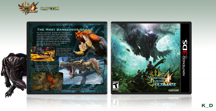 Monster Hunter 4: Ultimate box art cover