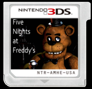 five nights at freddy's cartridge nintendo 3ds box art coverrovenz