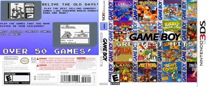 Game Boy : Greatest Hits box art cover