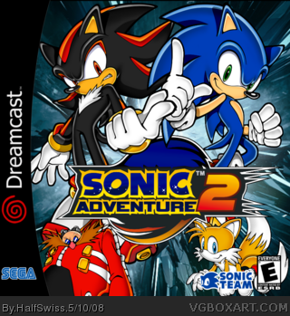 Sonic Adventure 2 Dreamcast Box Art Cover By Halfswiss