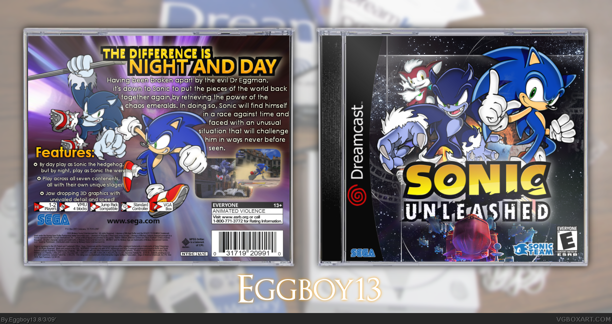 Sonic Unleashed box cover