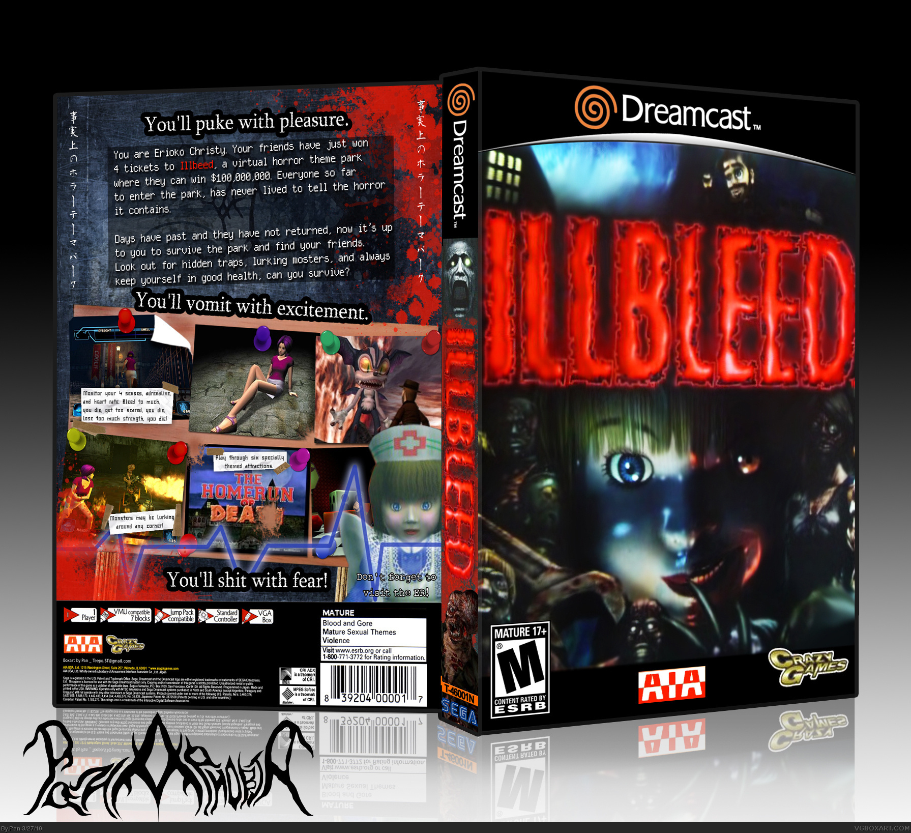 Illbleed Dreamcast Box Art Cover By Pan