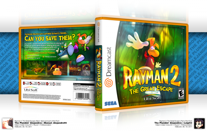 Rayman 2: The Great Escape box art cover