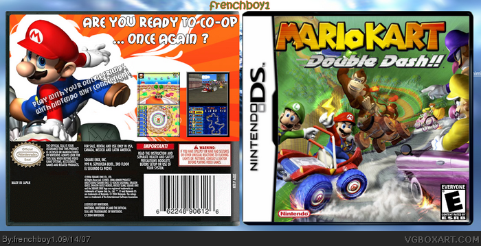Mario Kart Double Dash Ds Nintendo Ds Box Art Cover By