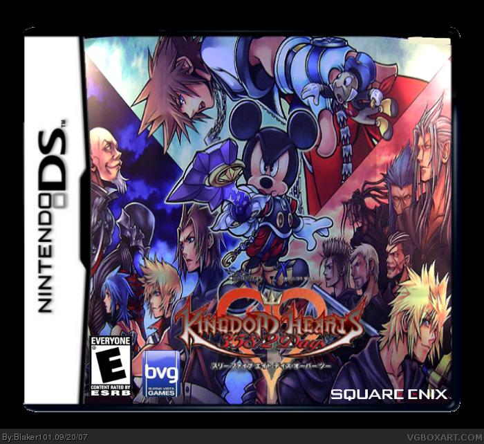 Tujisaki Kingdom Hearts 358 2 Days Kingdom Hearts Ii: Kingdom Hearts 358/2 Days Nintendo DS Box Art Cover By