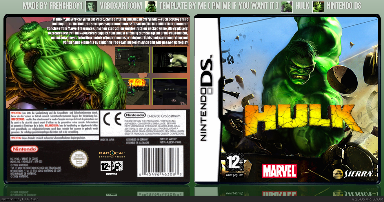 Hulk Game For Psp