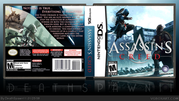 Assassin S Creed Nintendo Ds Box Art Cover By Deathspawn11