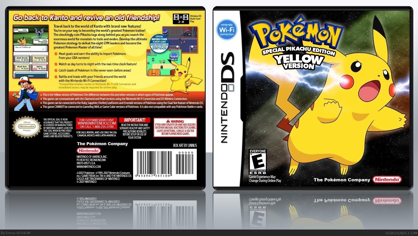 Viewing full size pokemon yellow box cover pokemon yellow box cover publicscrutiny Image collections