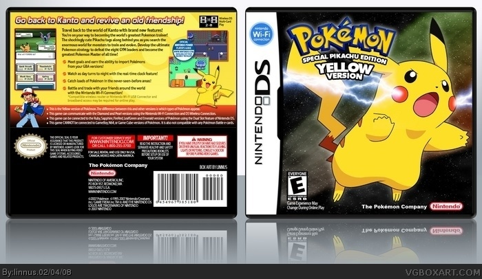 Nintendo DS » Pokemon Yellow Box Cover