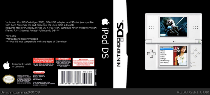 Ipod DS box art cover