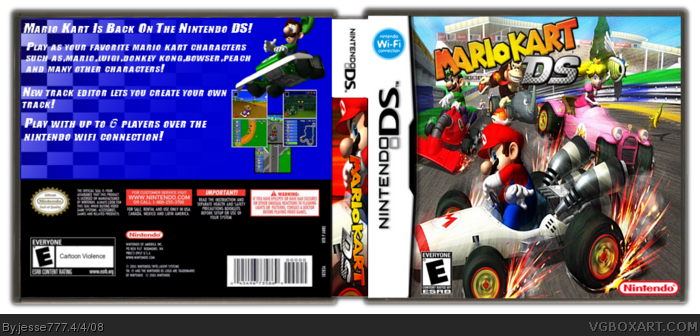 Mario Kart Ds Nintendo Ds Box Art Cover By Jesse777