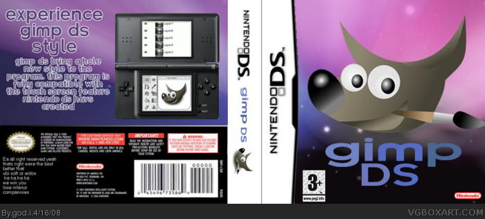 Gimp DS box art cover