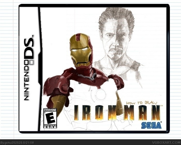 How to Draw Iron Man box art cover