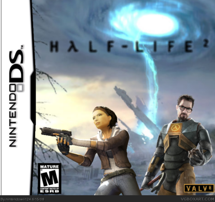 Half life 2 nintendo ds box art cover by nintendowii124
