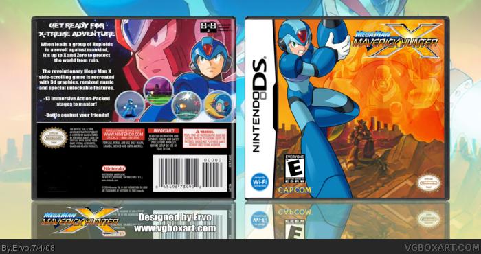 Mega Man Maverick Hunter X Nintendo Ds Box Art Cover By Ervo