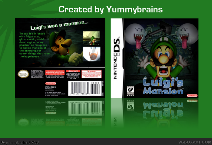 Luigi's Mansion DS box art cover