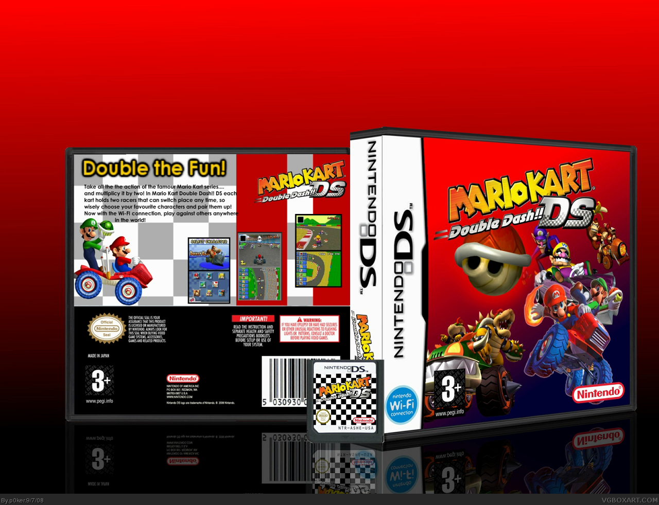 Viewing Full Size Mario Kart Double Dash Ds Box Cover