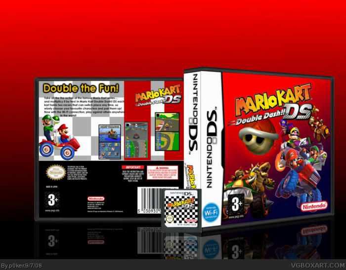 Mario Kart Double Dash Ds Nintendo Ds Box Art Cover By P0ker