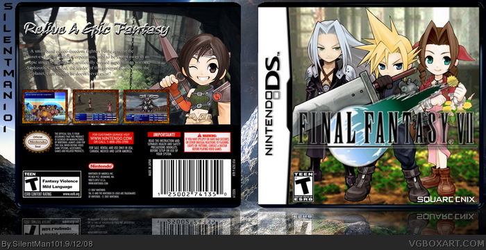 Final Fantasy VII box art cover