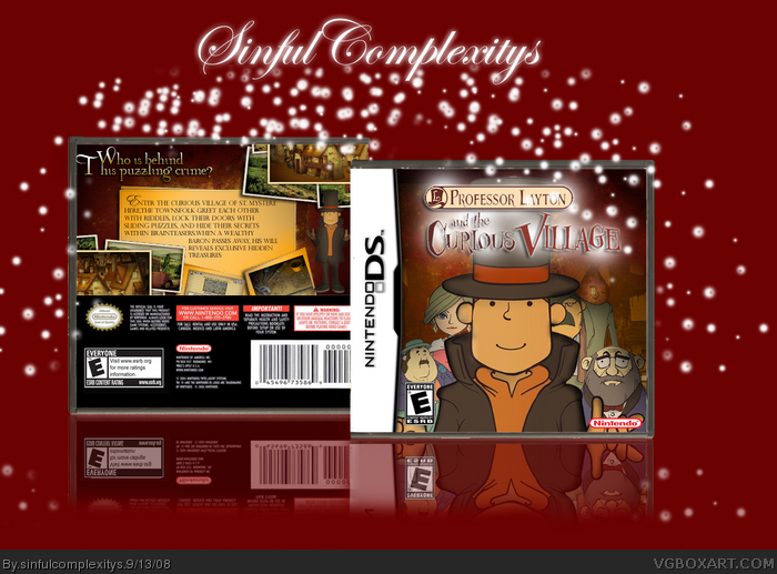 Professor Layton and the Curious Village box art cover