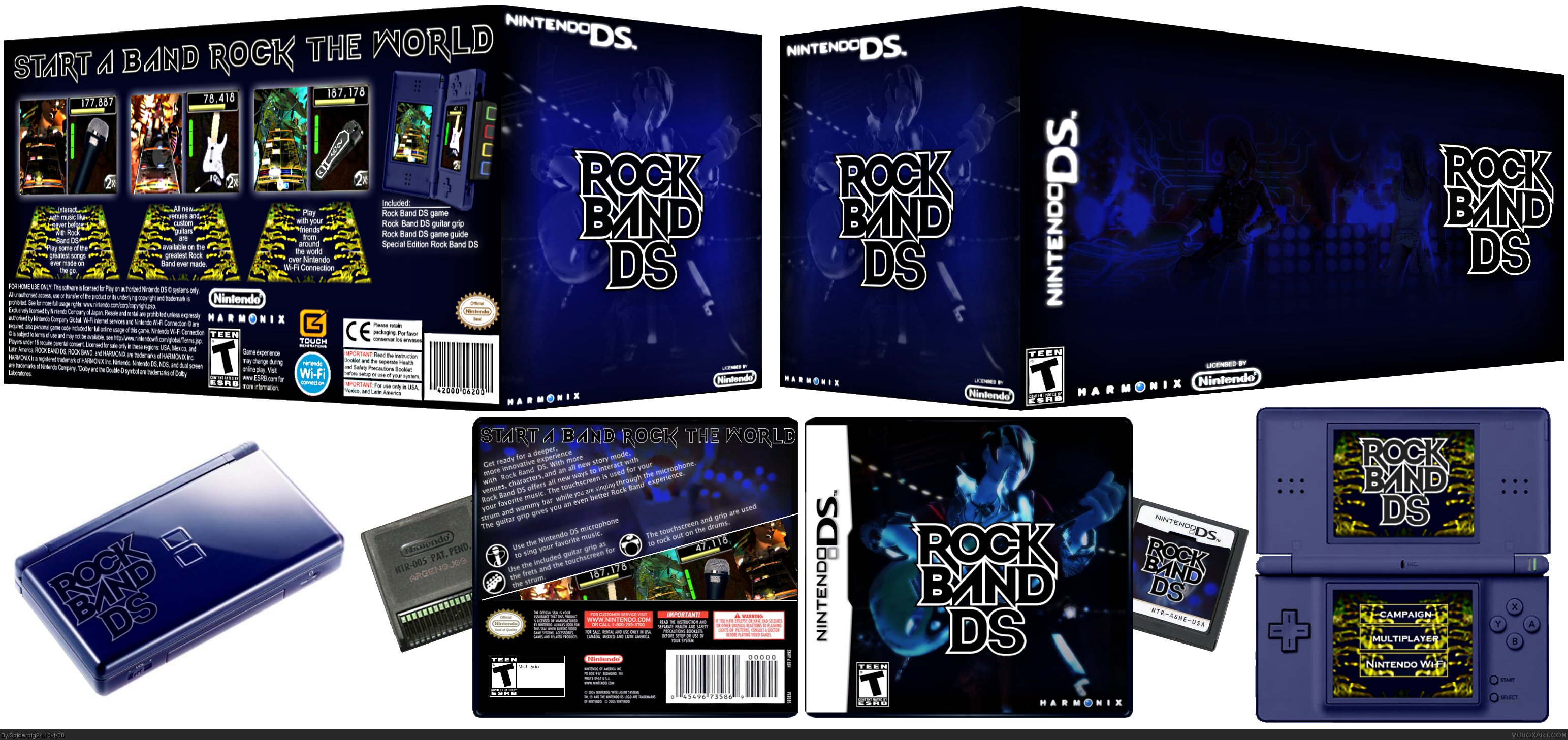 Rock Band DS box cover