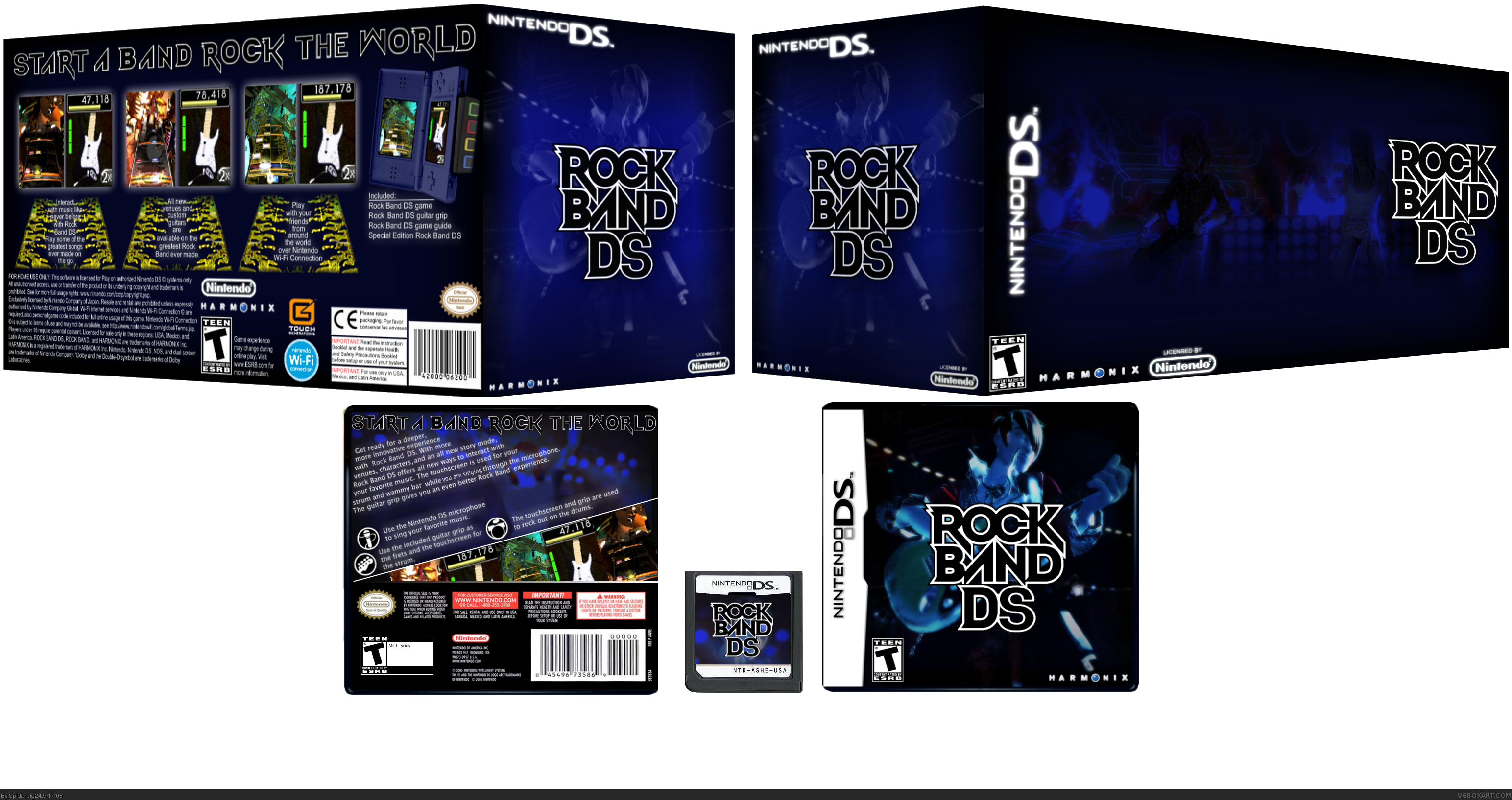 Rock Band Ds Nintendo Ds Box Art Cover By Spiderpig24