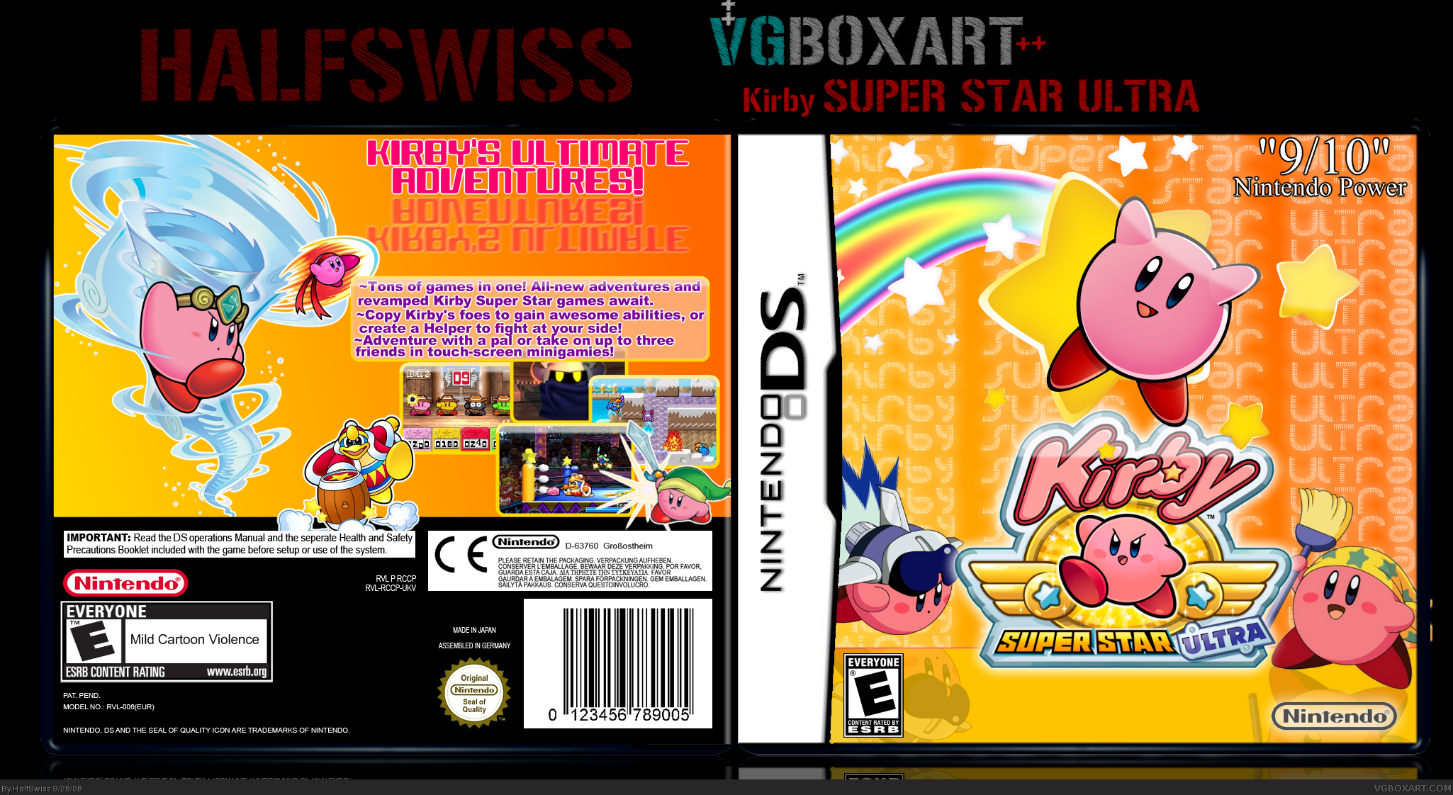 Nintendo DS » Kirby Super Star Ultra Box Cover