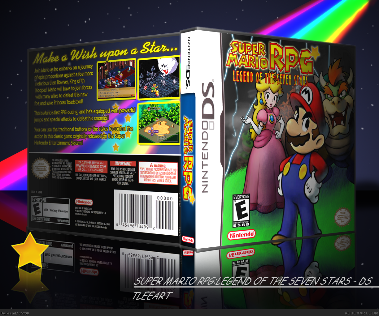 Super Mario RPG DS Nintendo DS Box Art Cover by tleeart