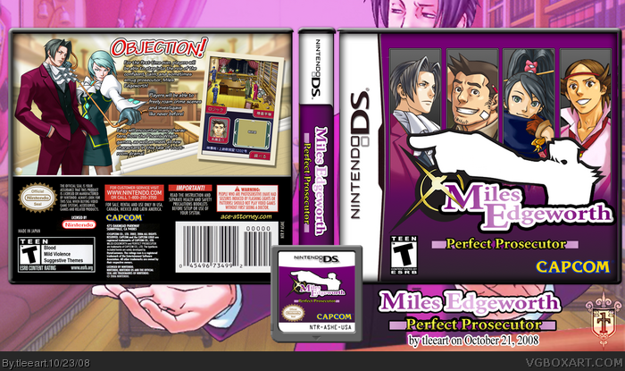 Miles Edgeworth: Perfect Prosecutor box art cover