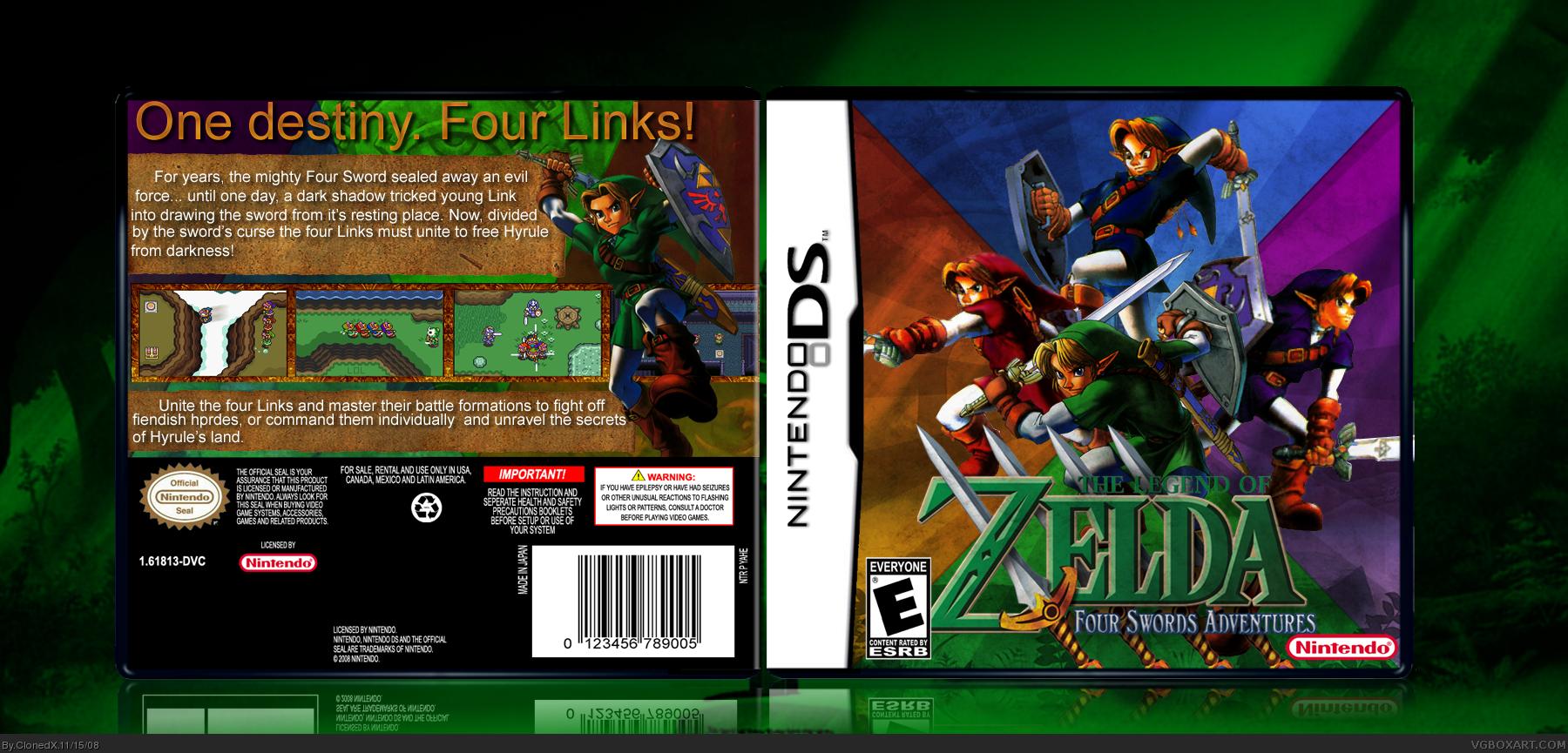 DS » The Legend of Zelda: Four Swords Adventures Box Cover