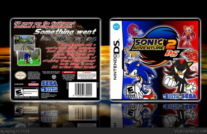 Nintendo DS » Sonic Adventure 2 DS Box Cover