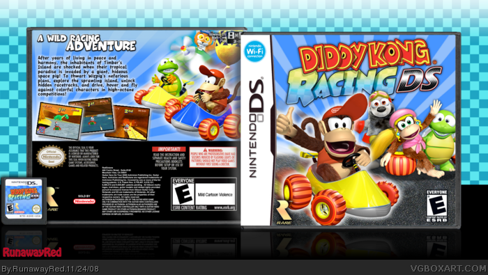 Diddy Kong Racing Ds Nintendo Ds Box Art Cover By Runawayred