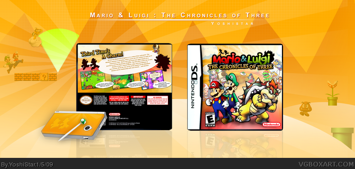 Mario & Luigi : The Chronicles of Three box art cover
