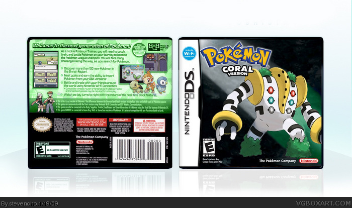 Pokemon Coral box art cover