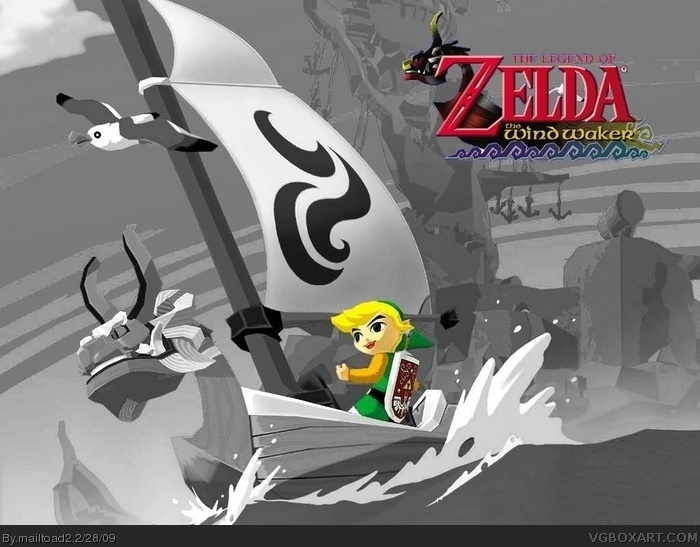 The Legend of Zelda: Wind Waker DS box art cover