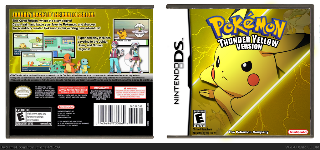 Pokemon thunder yellow version nintendo ds box art cover by comments pokemon thunder yellow publicscrutiny Image collections