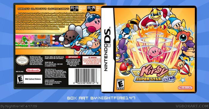 Kirby Super Star Ultra (2008) Nintendo DS box cover art ... |Kirby Super Star Box