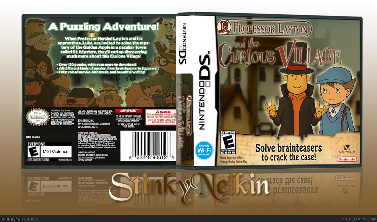 Professor Layton and the Curious Village box cover