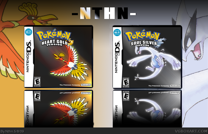 Nintendo DS » Pokemon Heart Gold and Soul Silver Version Box Cover